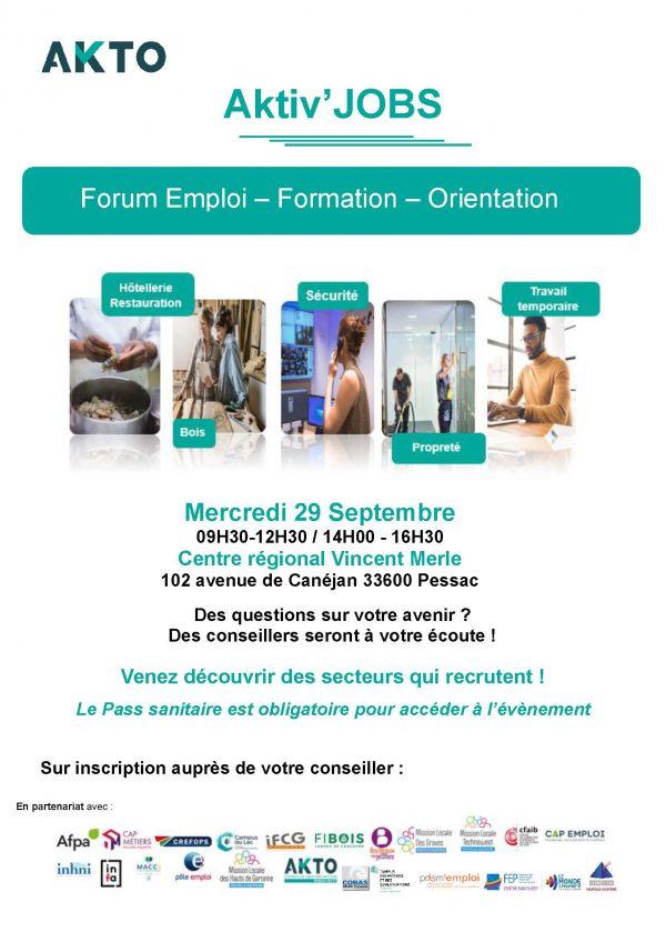 Forum Emploi Formation dans la métropole.